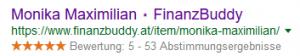 Google Sterne Bewertungen für FinanzBuddy